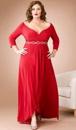 красное свадебное платье для полной невесты