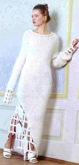вязаное зимнее свадебное платье