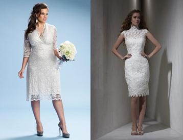 короткие свадебные платья для невест за 40