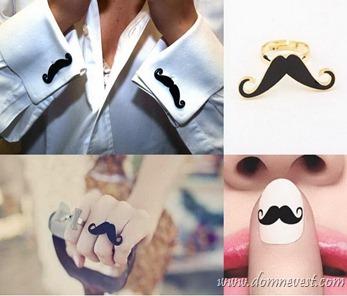 свадебные аксессуары усы