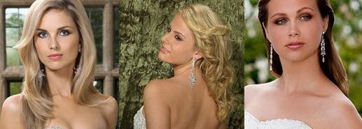 свадебные серьги для длинных волос