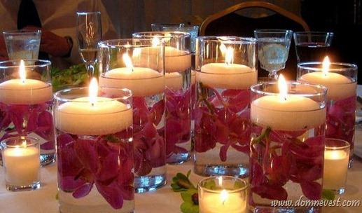 украшение свадьбы свечами