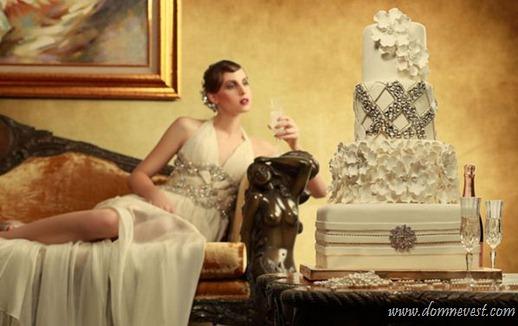 свадебный торт под свадебное платье