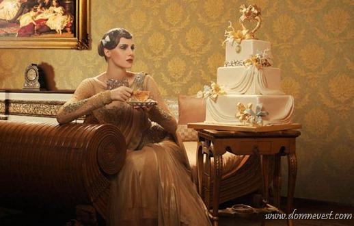 свадебное платье свадебный торт
