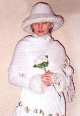 вязаный свадебный костюм палантин