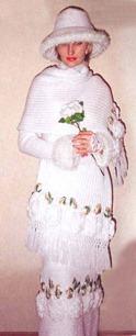вязаный свадебный костюм