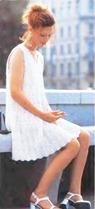 вязаное свадебное платье для беременных