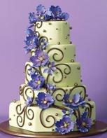 весенний свадебный торт