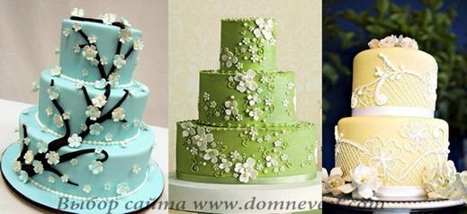весенние свадебные торты
