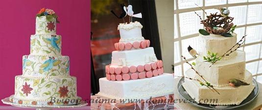 весенние свадебные торты с птичками