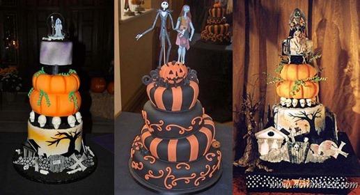 свадебный торт хеллоуин