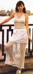 вязаное платье паутинка