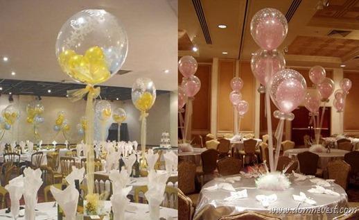 украшение свадьбы шарами с сюрпризом