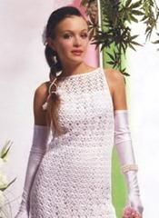 вязаное свадебное платье простая модель