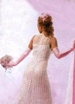 вязаное свадебное платье спинка
