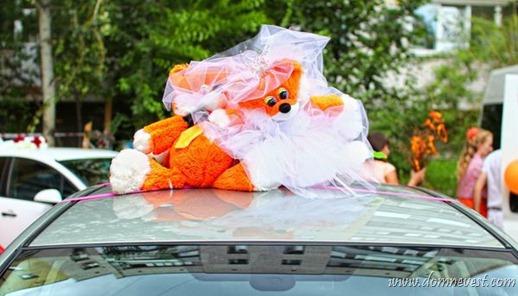 украшение свадебного автомобиля лисички