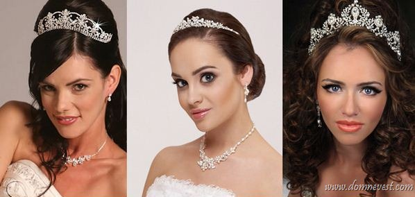 свадебная диадема, тиара и корона