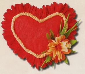 объемное сердечко из бумаги
