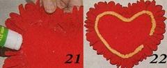 сердечко из гофрированной бумаги