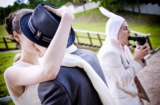 свадебная гангстерская фотосессия