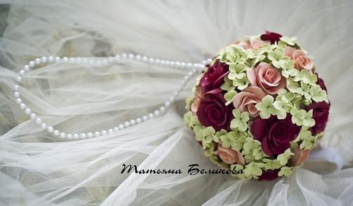 Свадебный букет-помандер