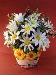 искуственные цветы из глины