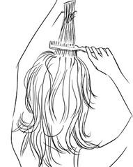 начешите волосы