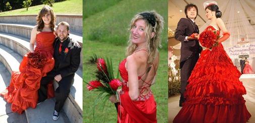 красные свадебные букеты
