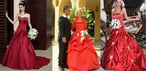 Свадебный букет для красного свадебного платья | Дом невест