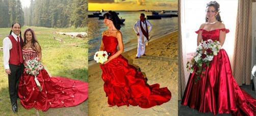 бело-красные свадебные букеты