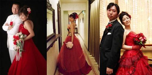 красно-розовые свадебные букеты