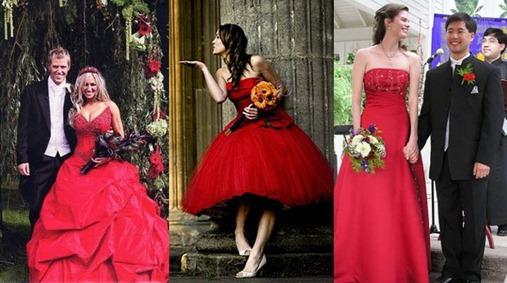 свадебные букеты для красного платья